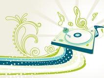 abstrakt dj-illustrationblandare Royaltyfria Bilder