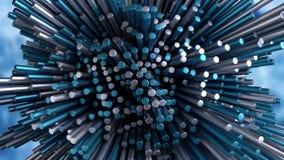abstrakt djupt lärande nerv- netto begrepp 4K stock illustrationer
