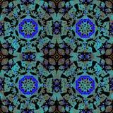 Abstrakt dostrzegał i błękitnego starego tło deseniowego, ciemnego, ilustracji