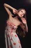abstrakt drömlik ståendekvinna Royaltyfria Foton