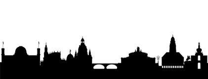 abstrakt dresden silhouette Royaltyfria Bilder