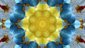 Abstrakt dynamisk geometrisk bakgrund för kalejdoskopblommamodell stock illustrationer