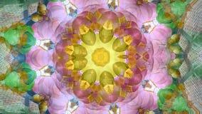 Abstrakt dynamisk geometrisk kalejdoskopblomma stock illustrationer