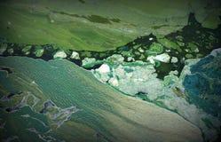 Abstrakt dytextur Grön bakgrund Vatten Royaltyfri Fotografi