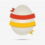 Abstrakt easter ägg med det pappers- banret Arkivfoto