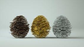 Abstrakt easter eggs on white background. stock photos
