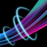 Abstrakt effekt för ljus våg Royaltyfri Fotografi