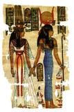 abstrakt egyptiska målningar Arkivfoto