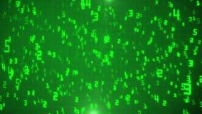 Abstrakt, einen Partikelregen von den Binärzahlen kennzeichnend, die den Matrixeffekthintergrund, Daten-Gebührenzählung sto des C vektor abbildung