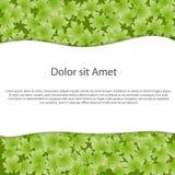 Abstrakt ekologibakgrund för text. Vektorillus Arkivfoto