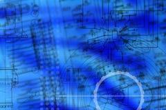 Abstrakt electromechanic drawning Stock Images