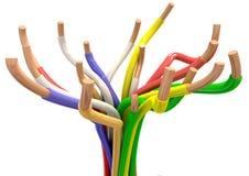 Abstrakt elektriska kablar stock illustrationer