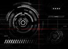 Abstrakt elektronisk bakgrund Royaltyfri Illustrationer