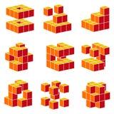 abstrakt element royaltyfri illustrationer