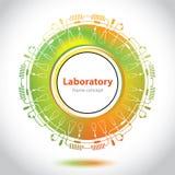 Abstrakt emblem för medicinskt laboratorium - cirkelbeståndsdel Arkivbilder