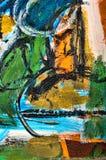 Abstrakt målning Arkivbild