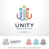 Abstrakt enhetfolk Logo Template Design Vector Fotografering för Bildbyråer