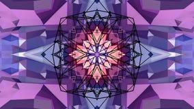 Abstrakt enkel bakgrund 3D i purpurfärgad lutningfärg, låg poly stil som modern geometrisk bakgrund eller matematiskt stock illustrationer