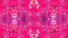 Abstrakt enkel bakgrund 3D i röd purpurfärgad lutningfärg, låg poly stil som modern geometrisk bakgrund eller stock illustrationer