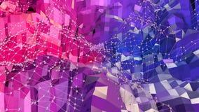 Abstrakt enkel blå röd låg poly yttersida 3D som elegant modellmiljö Mjuk geometrisk låg poly rörelsebakgrund vektor illustrationer