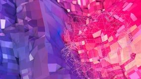 Abstrakt enkel blå röd låg poly yttersida 3D som konstbakgrund Mjuk geometrisk låg poly rörelsebakgrund med rena blått stock illustrationer