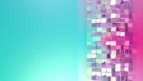 Abstrakt enkel blå rosa låg poly yttersida 3D som futuristisk miljö Mjuk låg poly rörelsebakgrund av växling royaltyfri illustrationer