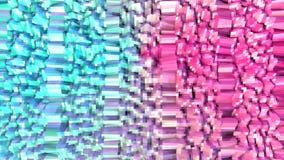 Abstrakt enkel blå rosa låg poly yttersida 3D som geometriskt raster Mjuk geometrisk låg poly rörelsebakgrund av växling vektor illustrationer