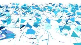 Abstrakt enkel blå violett låg poly kluven yttersida 3D som bakgrund Mjuk geometrisk låg poly rörelsebakgrund av stock illustrationer