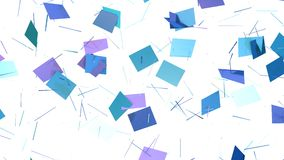 Abstrakt enkel blå violett låg poly kluven yttersida 3D som geometriskt raster Mjuk geometrisk låg poly rörelsebakgrund av royaltyfri illustrationer