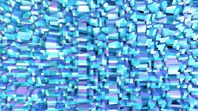 Abstrakt enkel blå violett låg poly yttersida 3D som fantastisk lättnad Mjuk geometrisk låg poly rörelsebakgrund av royaltyfri illustrationer