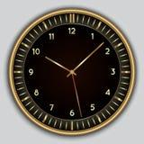 Abstrakt enkel rund klocka för vektor Arkivbild