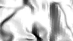 Abstrakt enkel svartvit låg poly vinkande yttersida 3D som cybernetic miljö Grå geometrisk vibrering lager videofilmer