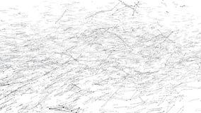 Abstrakt enkelt svartvitt vinkande raster 3D eller ingrepp som härlig bakgrund Grå geometrisk vibrerande miljö eller arkivfilmer
