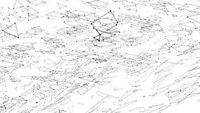 Abstrakt enkelt svartvitt vinkande raster 3D eller ingrepp som unik bakgrund Grå geometrisk vibrerande miljö eller lager videofilmer