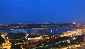 abstrakt esplanade singapore Royaltyfria Bilder