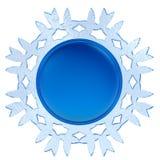 Abstrakt etikett för snöflinga 3d Royaltyfri Illustrationer