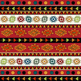 Abstrakt etnisk modell i livliga färger. Royaltyfri Foto