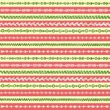 Abstrakt etnisk stam- bandgränsgrunge skissar för modelltextur för konst den sömlösa vektorn för bakgrund stock illustrationer