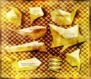 Abstrakt etykietki Fotografia Royalty Free
