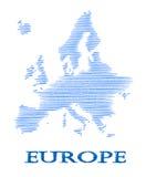 Abstrakt Europa kontur. Arkivfoton