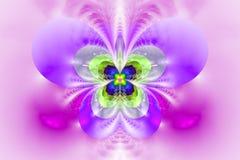 Abstrakt exotisk blomma på vit bakgrund Fotografering för Bildbyråer