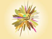 Abstrakt explosion Royaltyfri Fotografi
