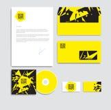 abstrakt explosion vektor för mall för identitet för illustrationsaffär företags Kuvertpapper, affär Royaltyfria Foton