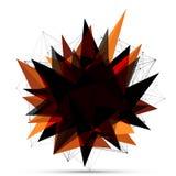 Abstrakt explosionbaner Linjer och Dots Connection Concept Triangelbaner Fotografering för Bildbyråer