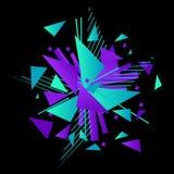 Abstrakt explosionmall modern bakgrund vektor illustrationer