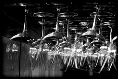 abstrakt exponeringsglaswine Royaltyfri Foto