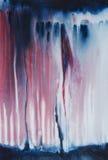 Abstrakt expressionistisk akrylmålning på kanfas royaltyfri fotografi