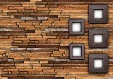Abstrakt färdig vägg med ramar Arkivfoto