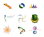abstrakt färg 3d stock illustrationer