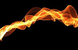 Abstrakt färg för guling för flammavågbakgrund royaltyfri foto